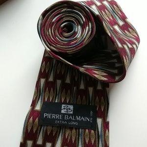 Pierre Balmain Tie - 100% silk (extra long)